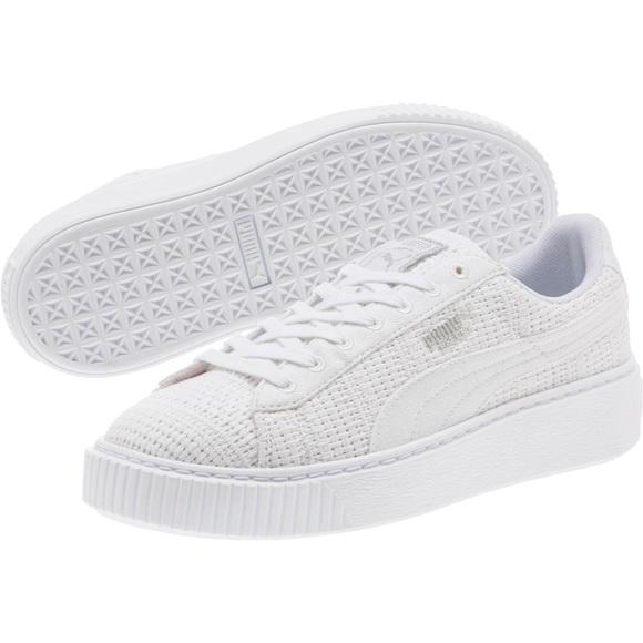 1003c36ee06 Puma Basket Platform Woven Women s Sneakers